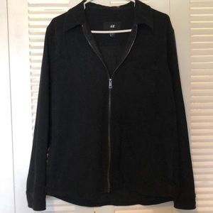 H&M black zip up jacket with breast pocket